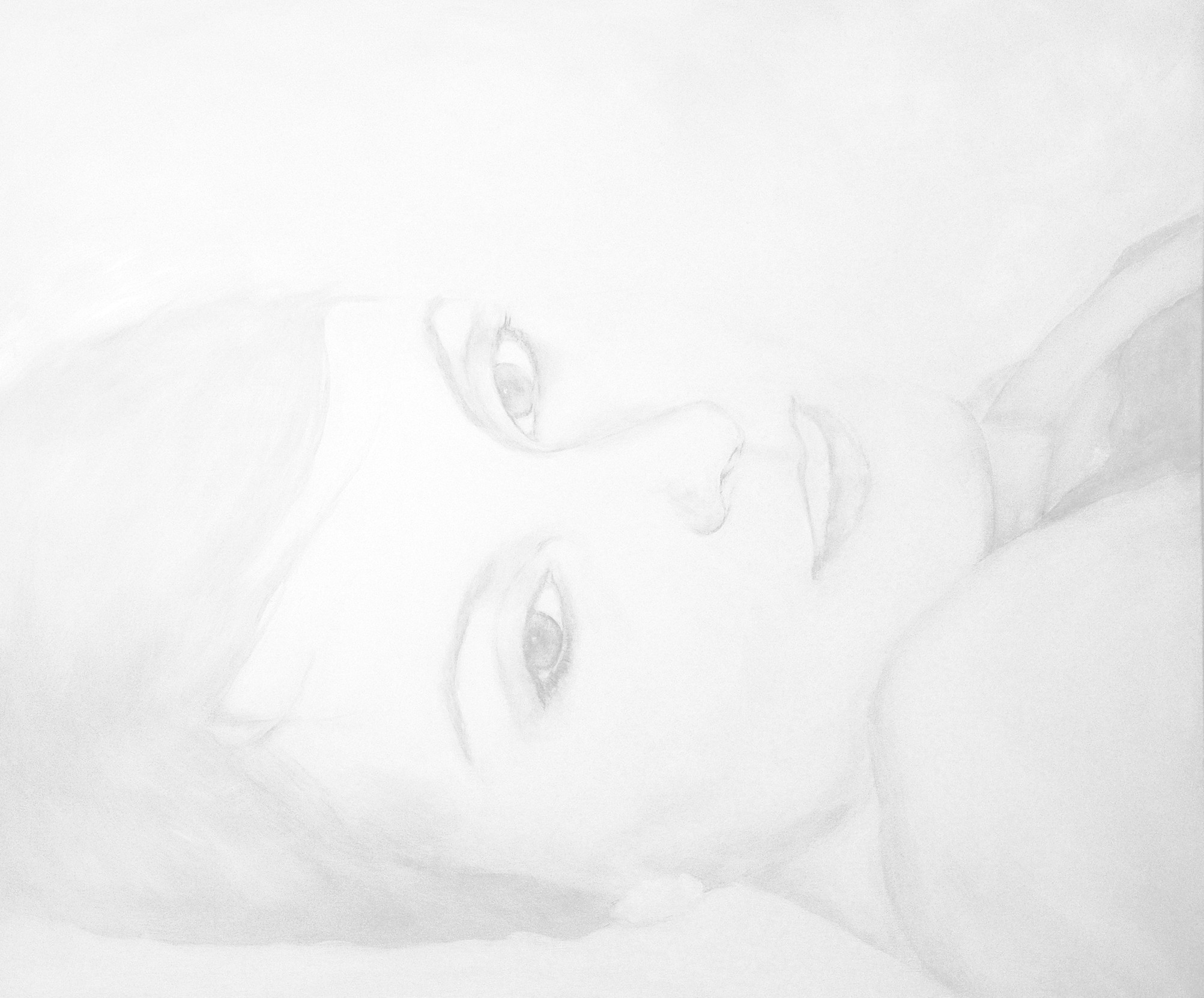 Portrait femme, peinture à l'huile contemporaine