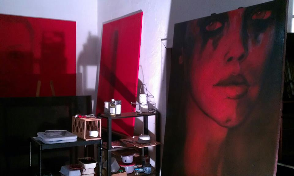 Série de toiles rouges